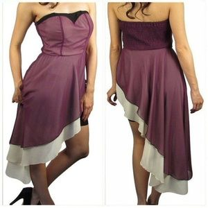 NWT Unique Purple Strapless Dress Size M